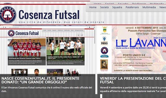 Online il sito web del Cosenza Futsal. Sabato derby col Catanzaro