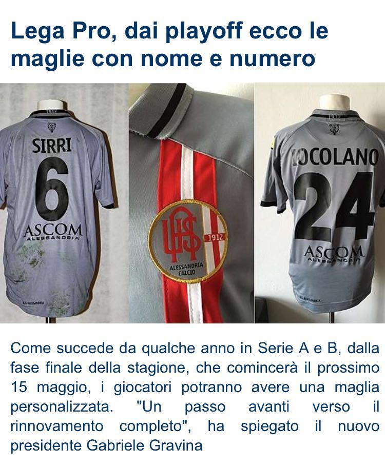 La Lega Pro da i… numeri. Maglie personalizzate come in A e B