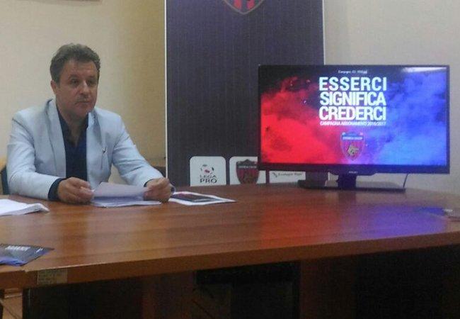 """Il dg Federico: """"Il Cosenza non ha ancora la deroga per il Marulla"""""""