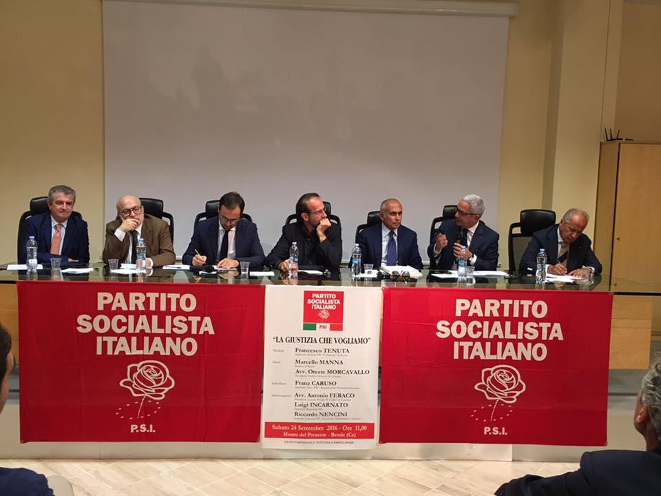 I Socialisti e la giustizia, convegno a Rende. Da Nencini bordate ai Cinque Stelle