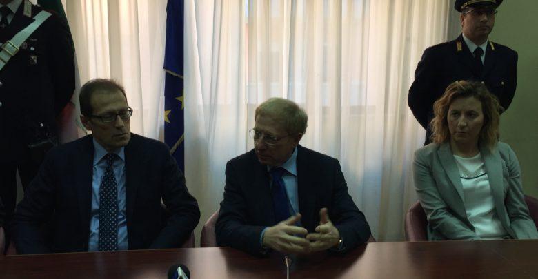 il procuratore Facciolla, il prefetto Tomao e il pm Rana