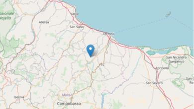 Photo of Forte scossa di terremoto in Molise, sisma di 4.6: paura tra i cittadini