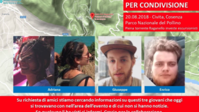 Photo of Tragedia Raganello, le foto di 3 escursionisti. I pompieri recuperano un uomo [VIDEO]