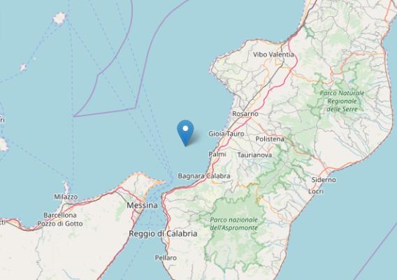 Forte scossa di terremoto nella Calabria meridionale. Epicentro Palmi