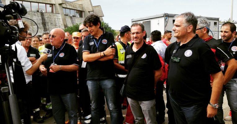 Il gruppo comunale volontari di protezione civile di Rende all'incontro regionale