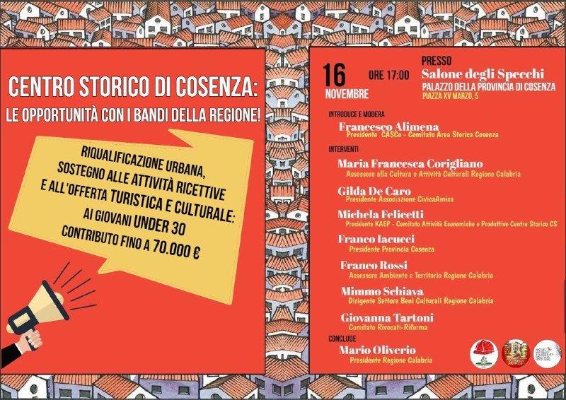 Cosenza, i bandi regionali per far rinascere il centro storico