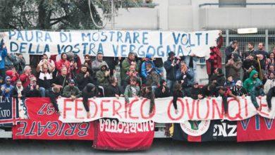 Photo of Striscione per Aldrovandi a Carpi, multe per gli ultrà del Cosenza