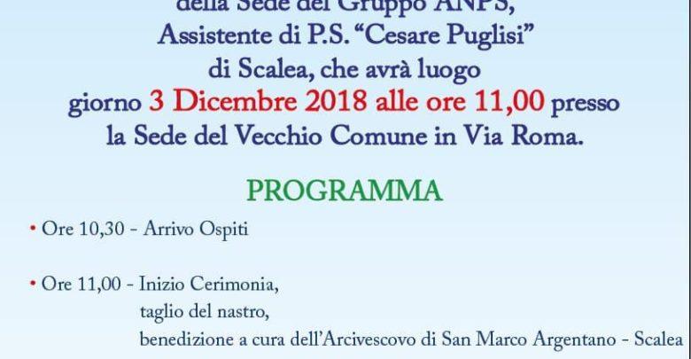 Inaugurazione sede ANPS a Scalea: ecco tutto il programma