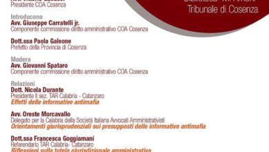 Photo of Interdittive antimafia, convegno a Cosenza tra avvocati e magistrati