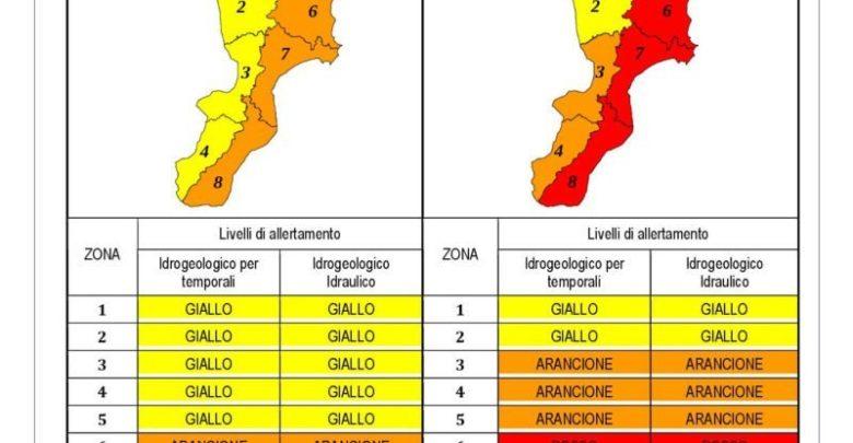 Allerta meteo rossa in Calabria, ecco le zone più critiche