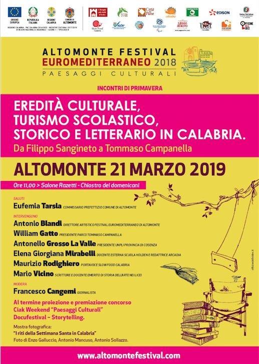 """Festival Euromediterraneo di Altomonte, ecco gli """"incontri di primavera"""""""