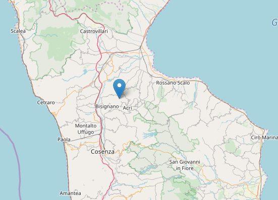 Due scosse di terremoto nel Cosentino: ecco l'epicentro