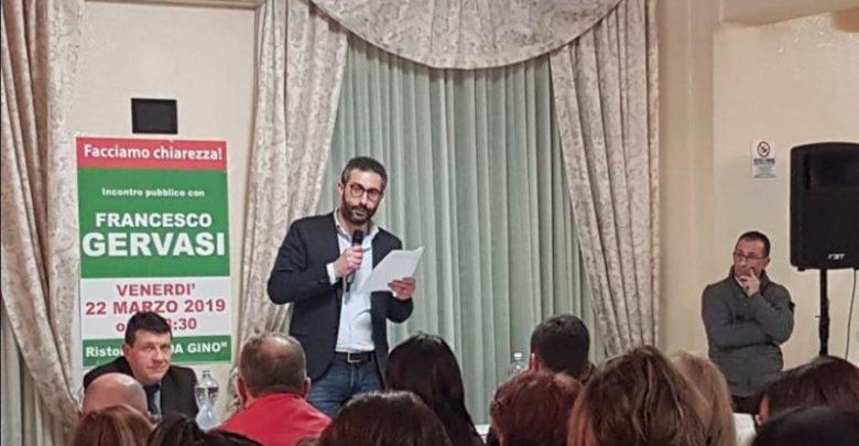 Mendicino, Gervasi: «Promettiamo il nostro impegno, non posti di lavoro»