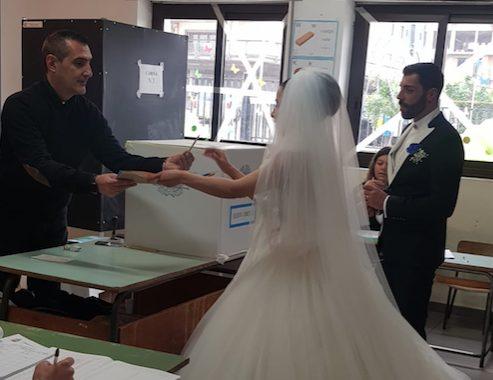 Dal matrimonio alle urne, ecco la storia di Mimmo e Arianna [FOTO]