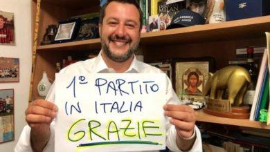 EUROPEE 2019 | La Lega di Salvini si attesta al 34%. Crolla il M5S