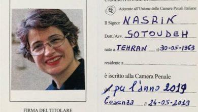 Photo of L'avvocata iraniana dei diritti umani iscritta alla Camera Penale di Cosenza