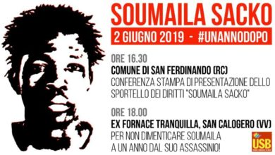 Photo of L'Usb ricorda Soumaila Sacko, il bracciante ucciso un anno fa