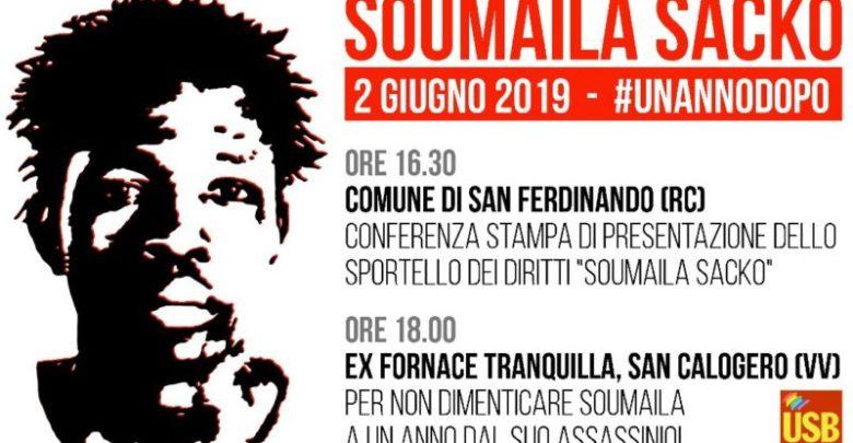 L'Usb ricorda Soumaila Sacko, il bracciante ucciso un anno fa