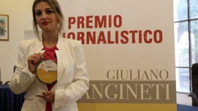 """Photo of Il premio giornalistico """"Giuliano Sangineti"""" ad Alessia Principe"""