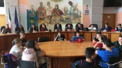 Photo of Studenti dell'Istituto Alberghiero di Paola in visita a Palazzo dei Bruzi