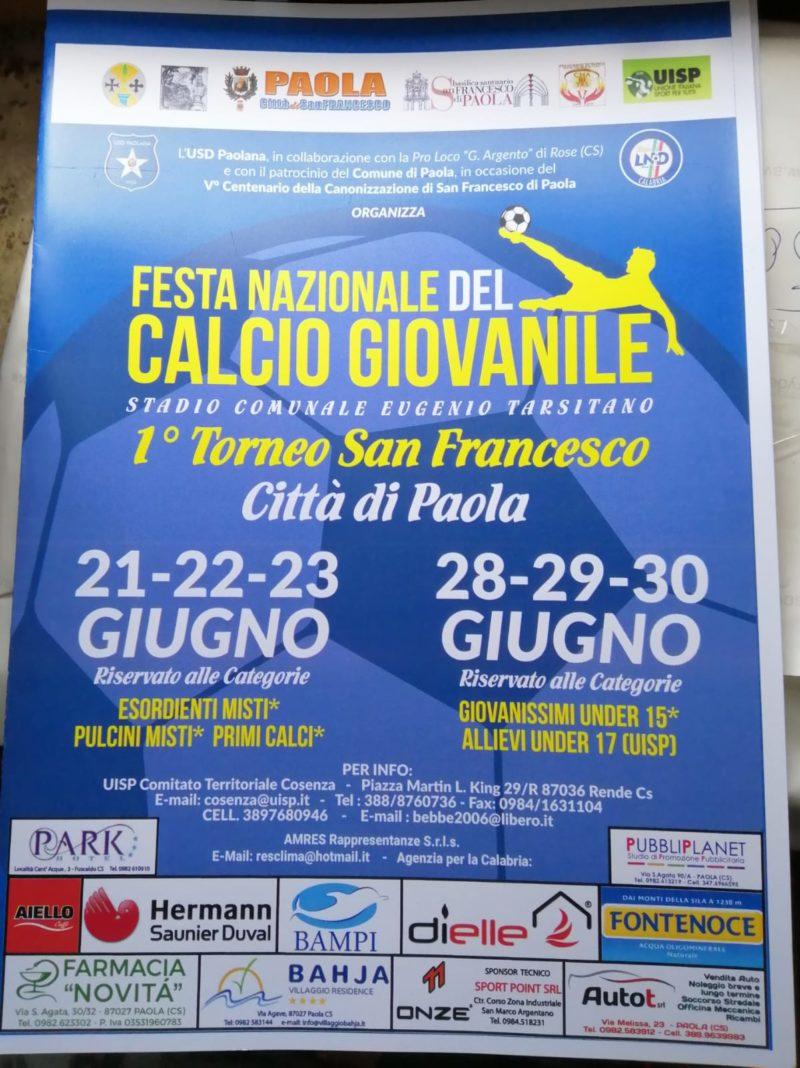 Primo torneo San Francesco, a Paola la festa del calcio giovanile