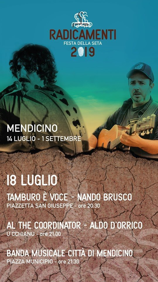 Radicamenti 2019, prosegue con Nando Brusco