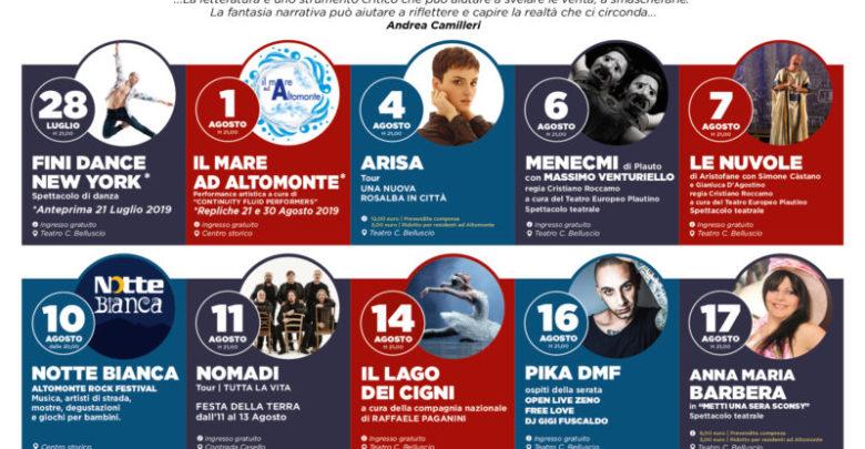 Festival Euromediterraneo Altomonte 2019, tutti gli eventi in programma