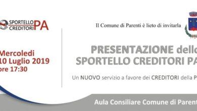 Photo of Parenti è il primo Comune ad aprire lo Sportello creditori Pa
