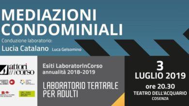 """Photo of Teatro dell'Acquario, stasera """"Mediazioni condominiali"""""""