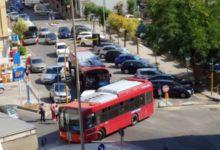 Cosenza bus fermo in pieno centro. Traffico in tilt