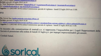 Photo of Sorical replica a Guccione: «Nostra assenza comunicata via email». E spunta una foto…
