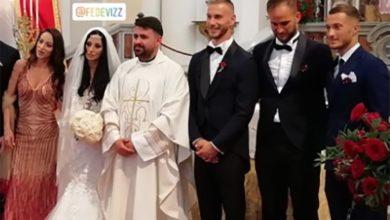 Photo of Tutino e Donnarumma al matrimonio di Perez. Ha celebrato don Mario
