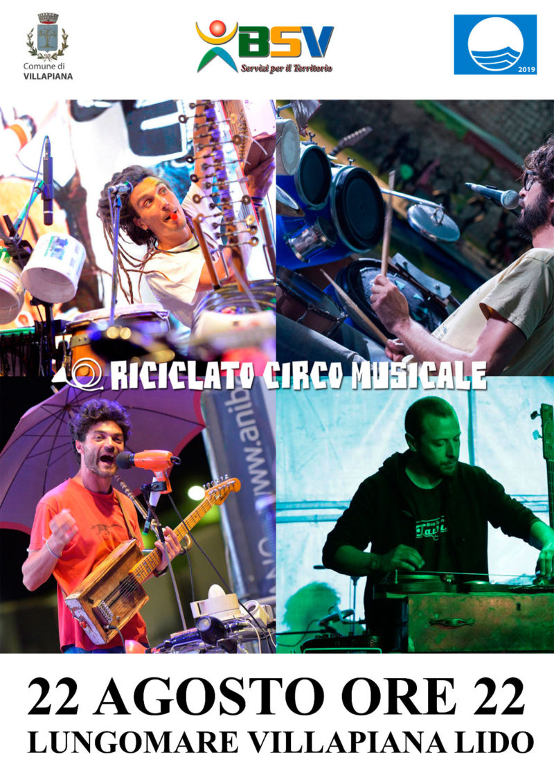 """Riciclato Circo Musicale: un concerto """"speciale a Villapiana"""