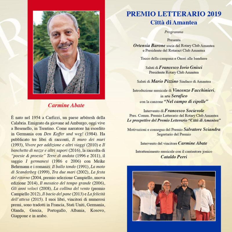 """Il """"Premio Letterario Città di Amantea"""" va ad Abate"""