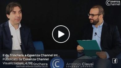 Photo of COSENZA CHANNEL INTERVIEW | Prima puntata: Trinchera, i Lupi e il futuro