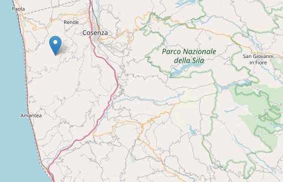 Forte scossa di terremoto nel Cosentino: epicentro Cerisano