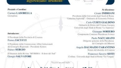 Photo of Alla Provincia di Cosenza un Convegno sul Mezzogiorno