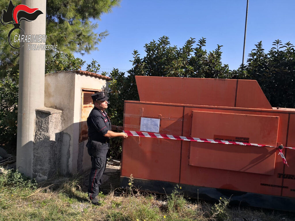 Crosia, carabinieri forestale sequestrano impianto lavaggio inerti