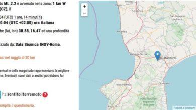Photo of Terza scossa di terremoto vicino Catanzaro: magnitudo ed epicentro