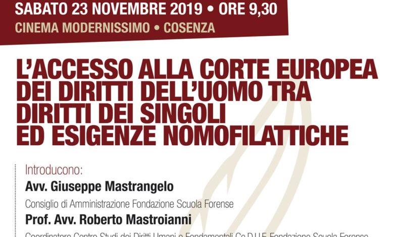 Un convegno a Cosenza sulla Corte Europea dei diritti dell'uomo