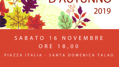 "Photo of Santa Domenica Talao, sabato c'è la ""Festa d'Autunno"""