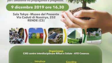 Photo of Il 9 dicembre convegno a Rende su discariche ed ecodistretto