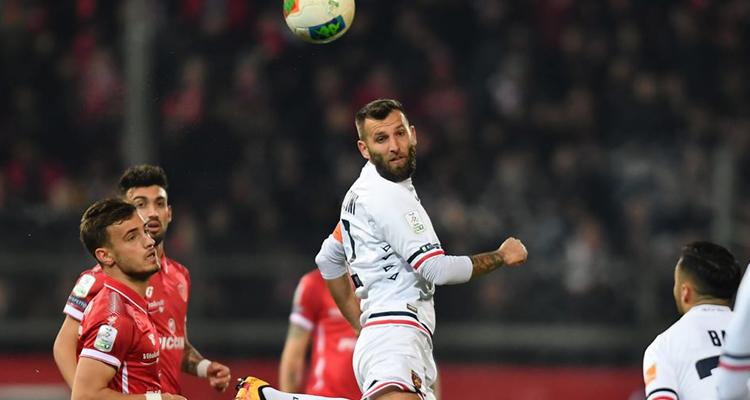 Mirko Bruccini durante il match di Perugia
