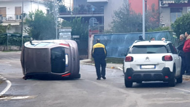 Photo of Incidente a Castrolibero, perde il controllo e si ribalta l'autovettura