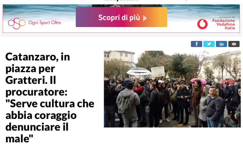 """Solo """"Repubblica"""" non snobba la manifestazione pro Gratteri"""