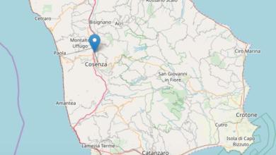 Photo of Scossa di terremoto nella notte a Cosenza: epicentro e magnitudo