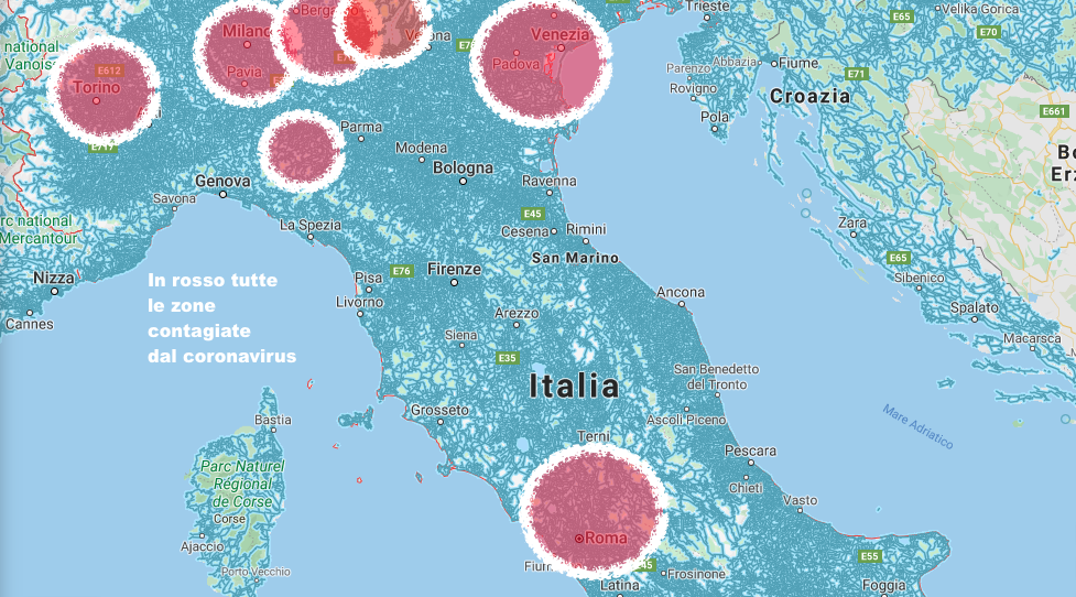 La Cartina Italiana.Coronavirus La Cartina Geografica Dell Infezione In Italia