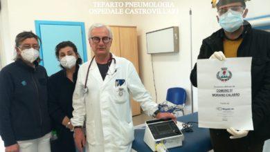 Photo of Il Comune di Morano consegna un ventilatore polmonare all'ospedale di Castrovillari