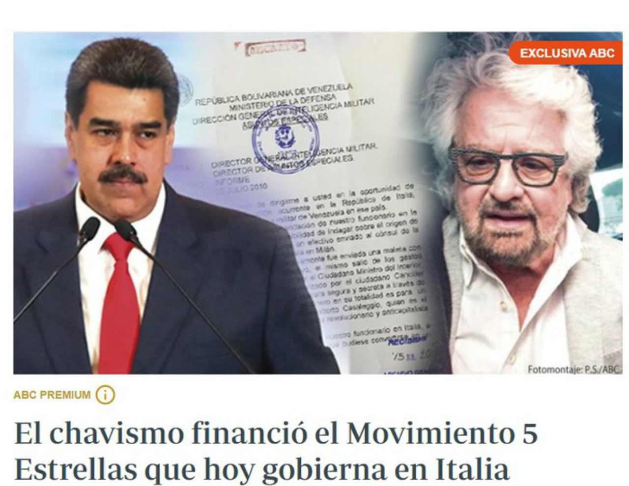 Abc, dalla Spagna: «Maduro finanziò il M5S nel 2010»