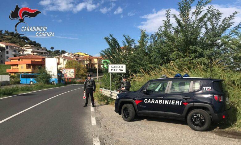 Cariati, spaccio di droga anche ai minorenni: blitz dei carabinieri